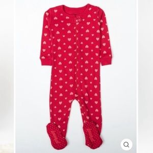 Leveret Baby Hearts Footed Pajama 12-18 months